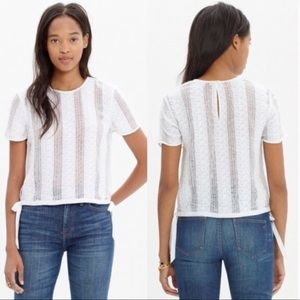 Madewell | Lace Side Tie Crop Tee
